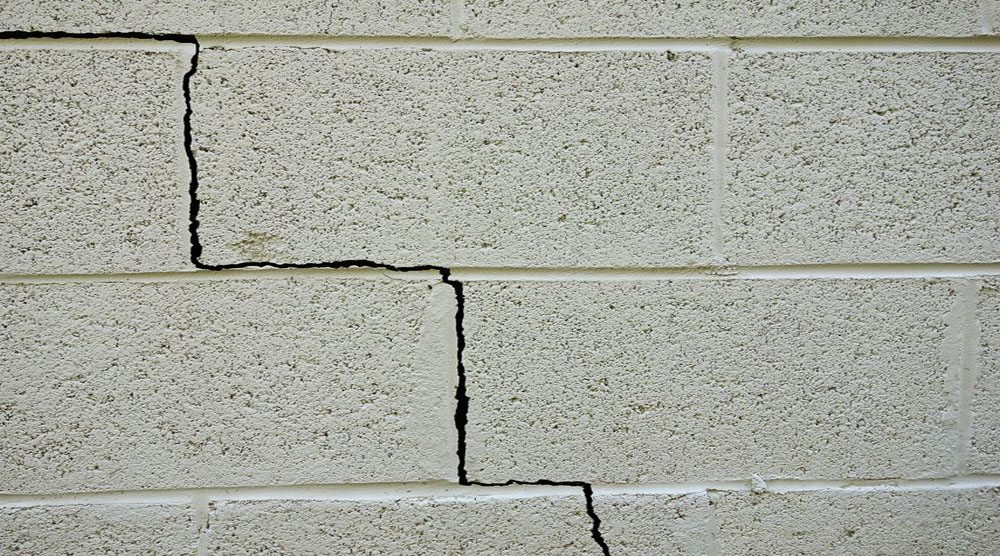 Superbe Basement Cement Block Wall Crack