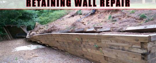 Railroad Tie Retaining Walls – Repair or Replace?