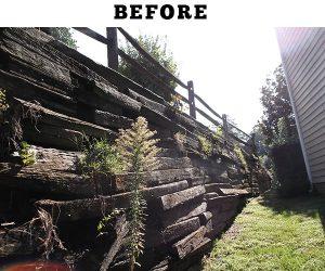 Retaining wall repair Charlotte NC